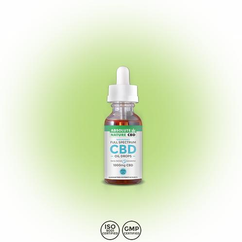 CBD Oil Drops | 1000mg/30ml | <0.3% THC | Hemp Oil