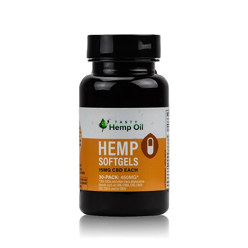 Hemp Softgels | 30ct(15mg/ea) | Full Spectrum | Easy to use | Hemp