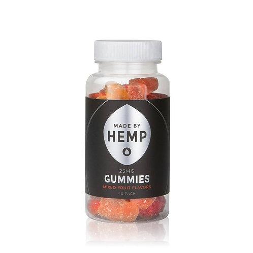 Made by Hemp Gummies 40ct (25mg/ea)   Mixed Fruit   Delicious   Hemp