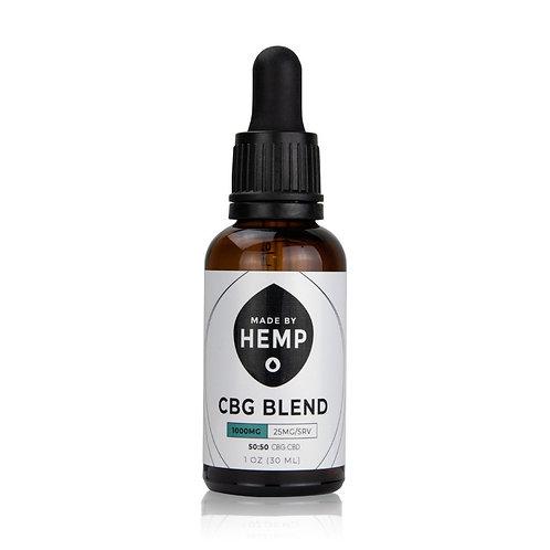 CBG Oil Blend 1oz. (1000mg)   50:50   CBG:CBD   Hemp Oil   Full Spectrum