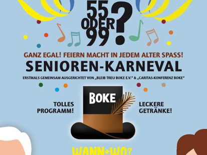 Seniorenkarneval der Caritas und KG Bleib treu 2020!!!