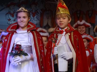 Neues Kinderprinzenpaar Julian II. und Nele I.