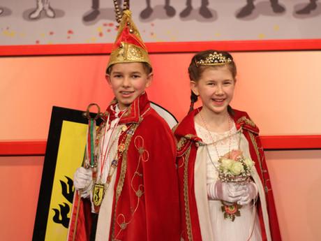Neues Kinderprinzenpaar                    Felix I. und Annalena I.