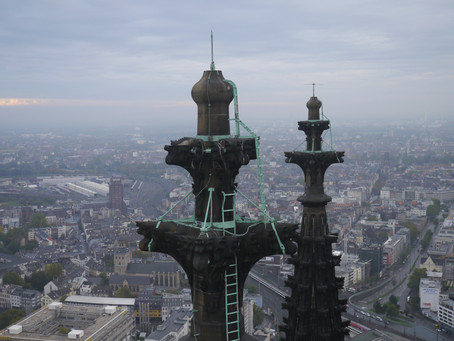 Working at Cologne Cathedral - Inspection of the South Tower with a Multicopter