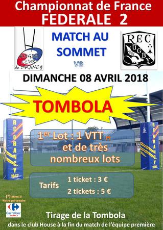 TOMBOLA au RC Drancy, demain !
