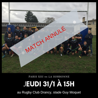#Report - Match universitaire  Paris XIII vs La Sorbonne