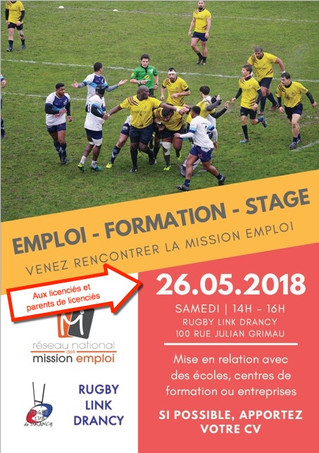 Rugby Link Drancy & Mission Emploi
