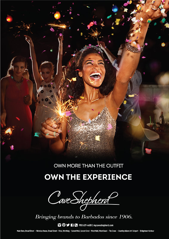Print Avertisment for Cave Shepherd 2017 Campaign - Own the Experience. Bringing Brands to Barbados since 1906