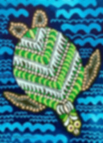 Turtle Painting by artist Cathy Cummins