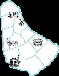 Barbados Illustrated Tour Map