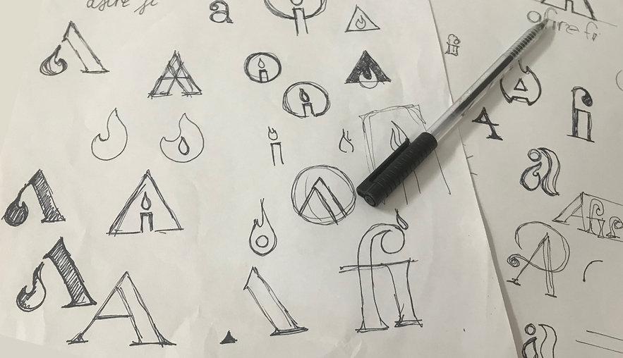 Afirefi Logo sketches