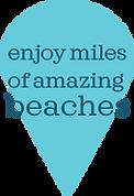 Enjoy miles of amazing beaches map pin