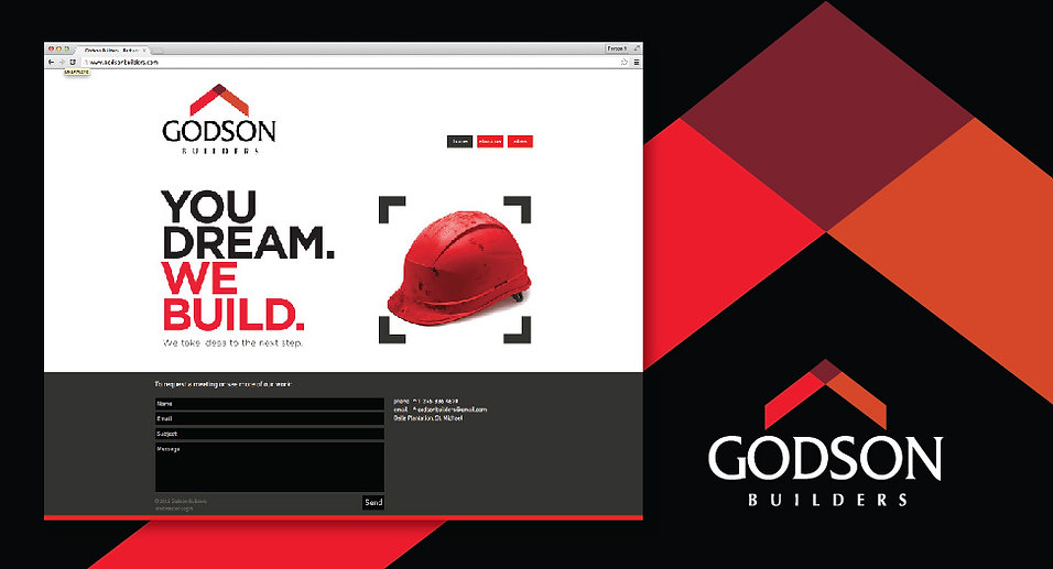 Godson Builders Logo and Website Design