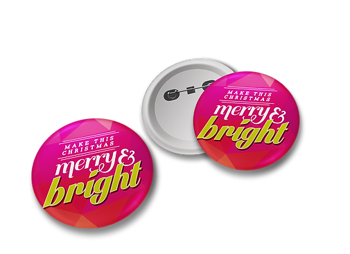 Merry and Bright Pins used as part of a Christmas Campaign for Cave Shepherd Barbados