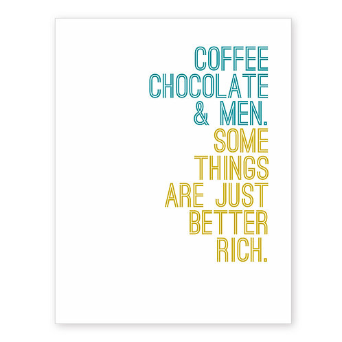 COFFEE CHOCOLATE & MEN