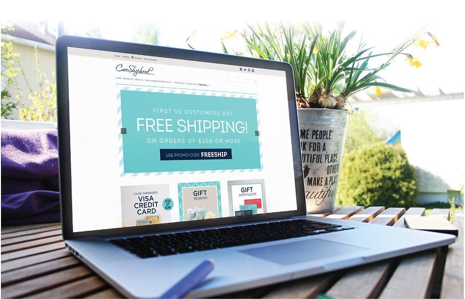 Cave Shepherd's retail ecommerce website design