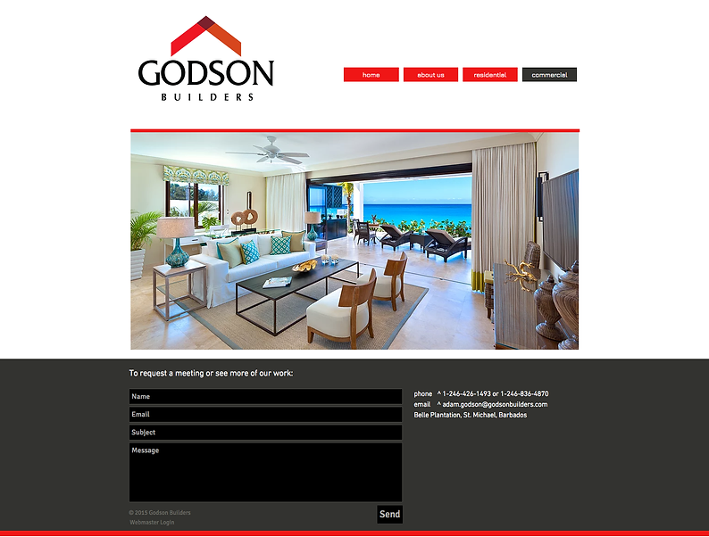 Godson Builders Website Design