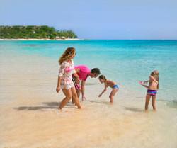 Family on a Barbados Beach