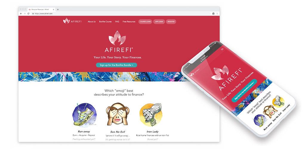 Website for Afirefi by Designers Coast