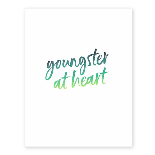 YOUNGSTER AT HEART