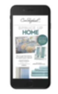 Image of an Email Design for Home decor and linens for Cave Shepherd Retail Store