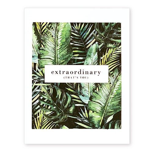 EXTRAORDINARY (THAT'S YOU)