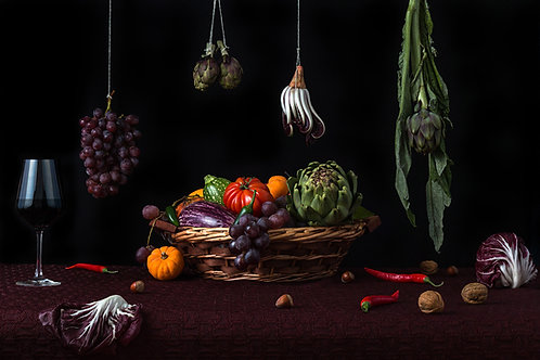 Still Life with Vegetables and Wine, 2015