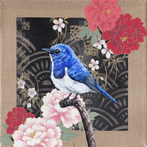 Washi Bird - Ultramarine Flycatcher