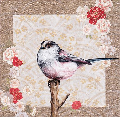 'Washi Bird' - Long-tailed Tit