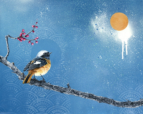 'Twilight Song' Art Print with Gold leaf