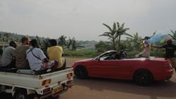 Vodafone drive scene