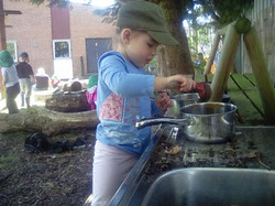 Making mud pies