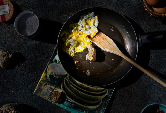 Humble. Scrambled egg.