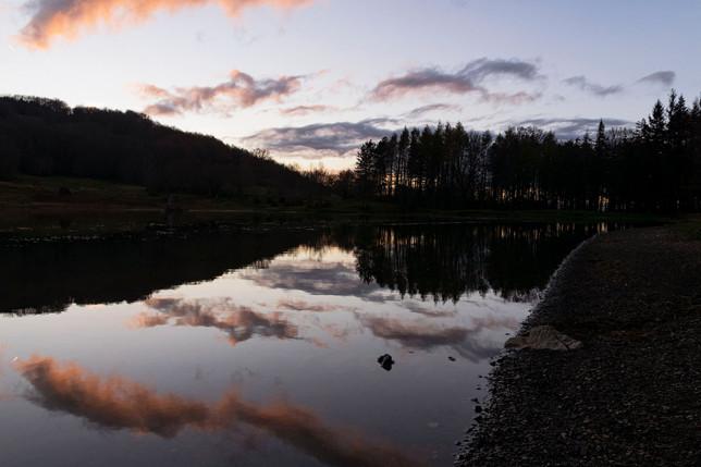 Sunset at Lago Calamone