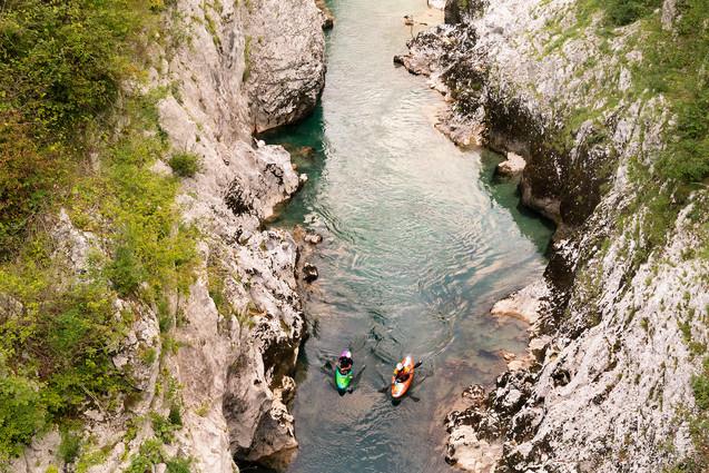 Canoe sull'Isonzo
