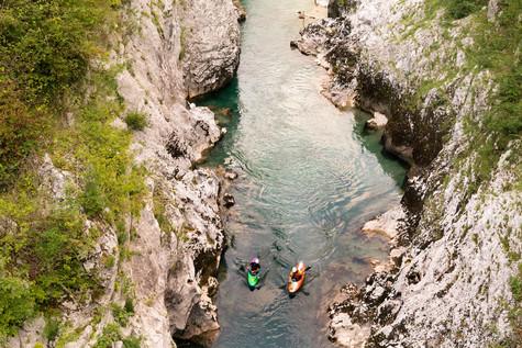 Canoe sull'Isonzo a Caporetto