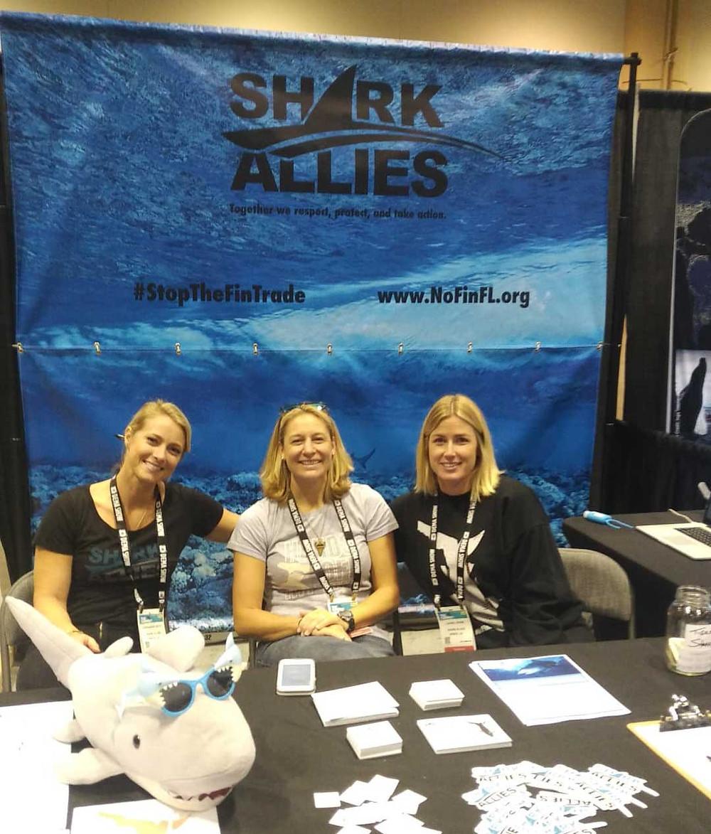 shark allies stop fin trade shark protection organization florida dive show exhibition