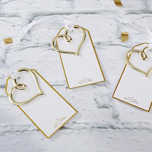 gold heart escort card set of 12