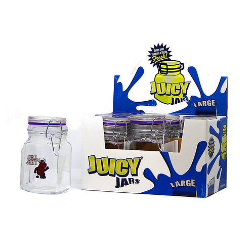 Juicy Jay tobacco and herbs glass jars large