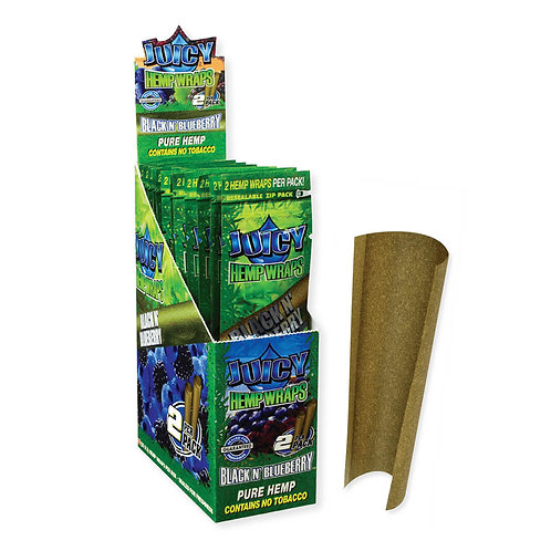 Juicy Jays Hemp Blunt Wraps-Blue