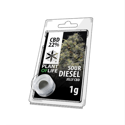Sour Diesel Jelly Hash ~ 22% CBD 1 Gram