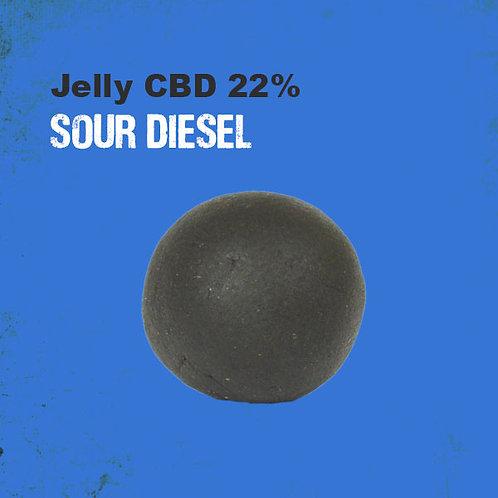 CBD Sour Diesel Jelly Hash ~ 1G