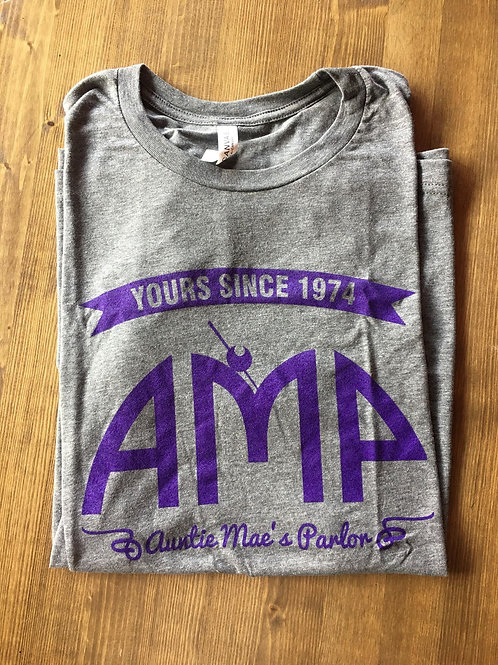AMP Tri-Blend Comfy Tee - Gray/Purple