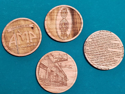 AMP Laser-Cut Wooden Coasters