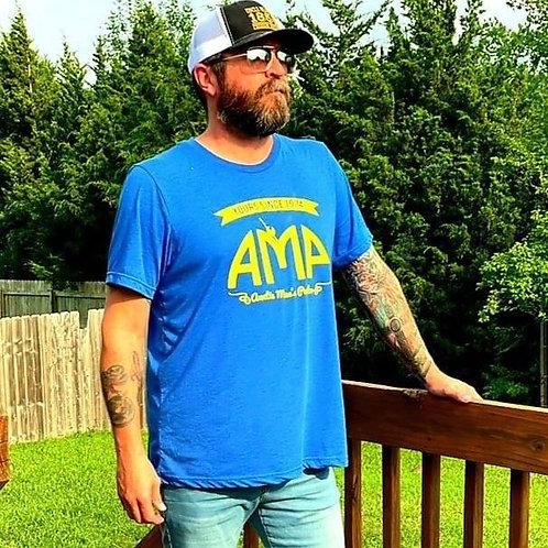 AMP Tri-Blend Comfy Tee - Blue/Yellow