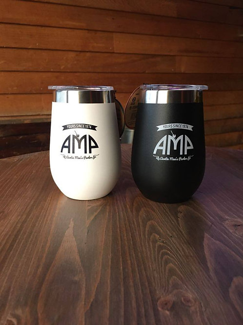 AMP Insulated Wine Tumbler w/ lid