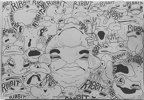 #doodle #fml #froggy #ribbit #🐸 #illust