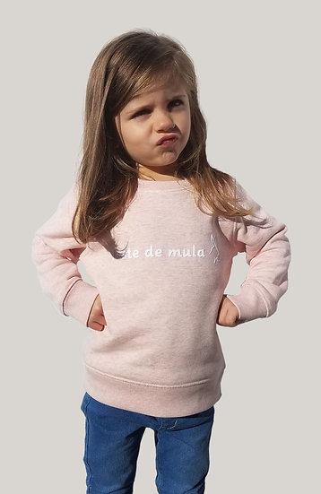 Sweat Enfant Rose pâle chiné ~ Testa de mula ~
