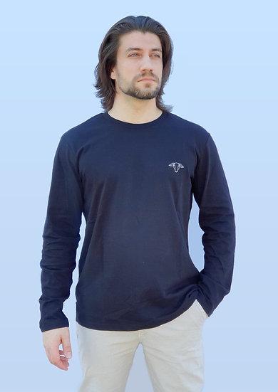 Tee-shirt Homme Noir Manches longues ~ Neïra ~