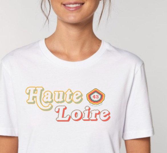 Tee-shirt UNISEXE Femme blanc ~ Haute-Loire ~